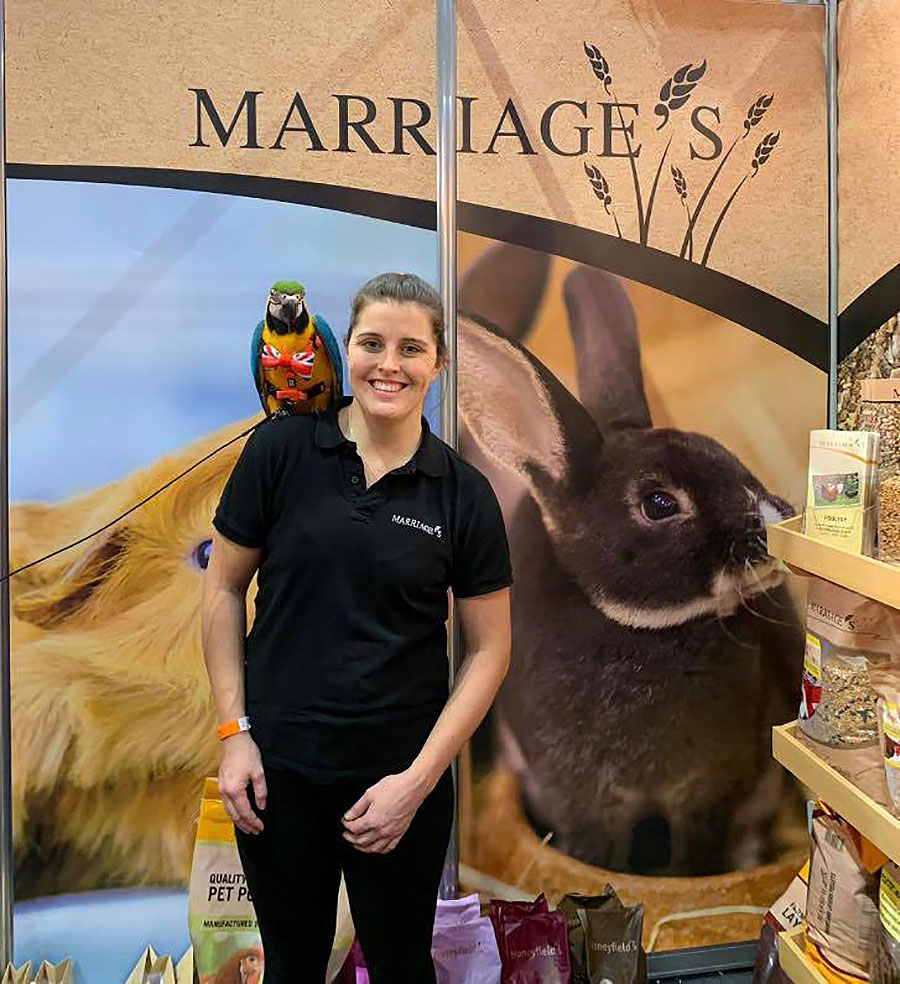 Marriage's Small Animal Feeds were a huge hit at the National Pet Show 2019