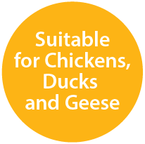 Suitable for Chickens, Ducks and Geese